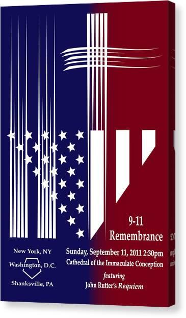 9-11 Rememberance Canvas Print