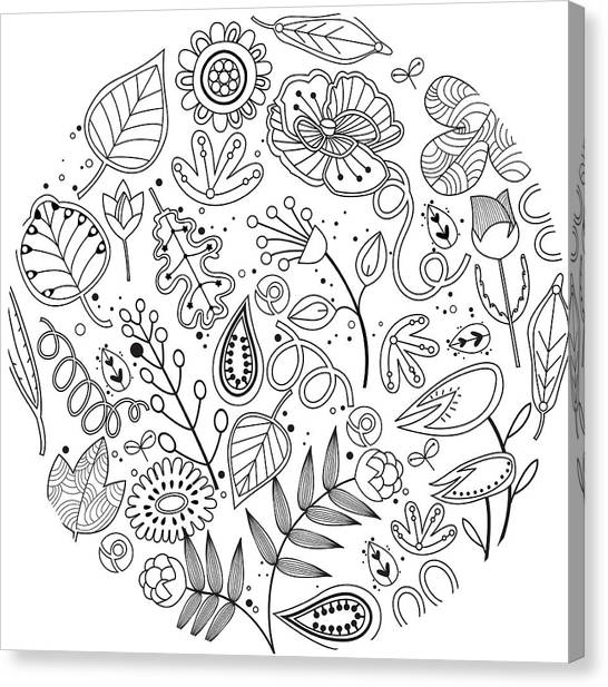 Flower Canvas Print - Various Plants Patterns by Eastnine Inc.