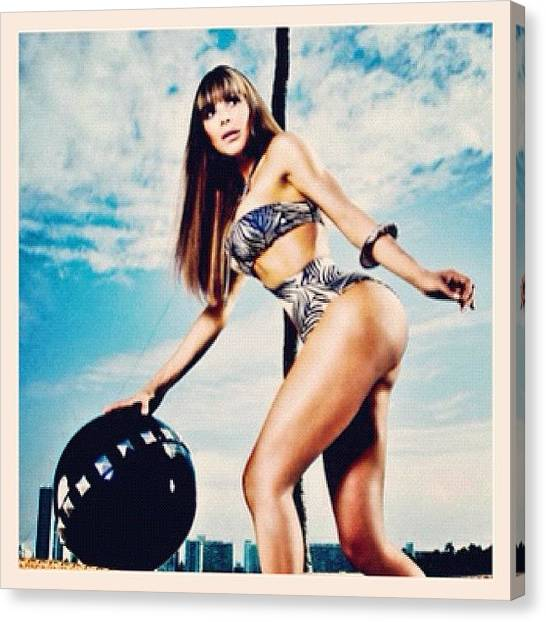 Bikini Canvas Print - Yep I Shoot And / Or Art Direct by Maria Lankina