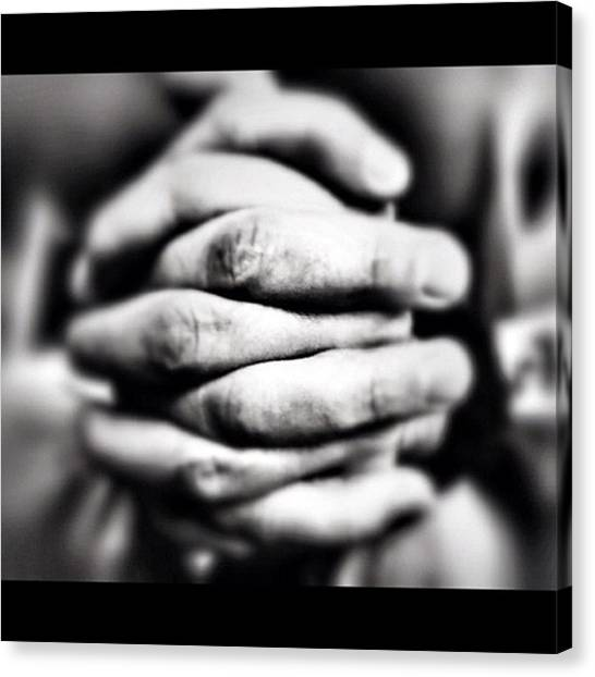 Hands Canvas Print - Instagram Photo by Ritchie Garrod
