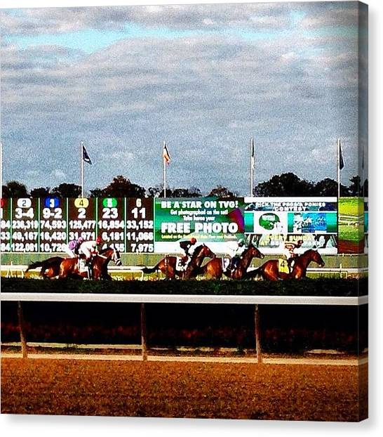Race Horses Canvas Print - Instagram Photo by Jess Stanisic