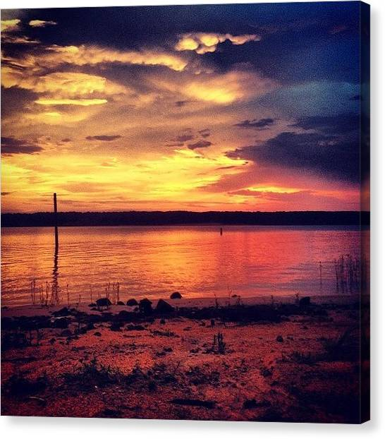 Sunset Horizon Canvas Print - Instagram Photo by Katie Williams
