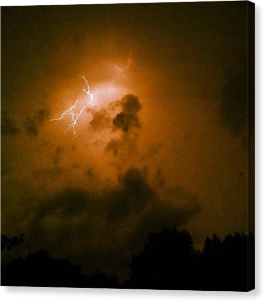 Lightning Canvas Print - Instagram Photo by Brian Harris
