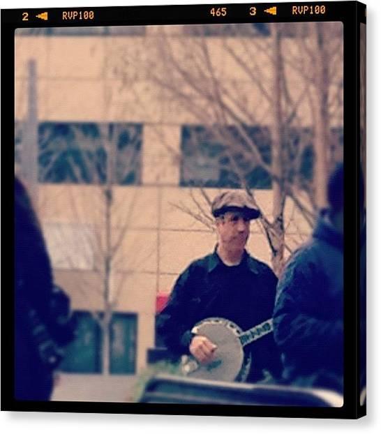 Banjos Canvas Print - A #banjo Player @ L'enfant Plaza This by Rob Murray