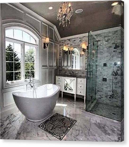 Soccer Leagues Canvas Print - A Bathroom For For A King 👑 Mls by Laffey Fine Homes
