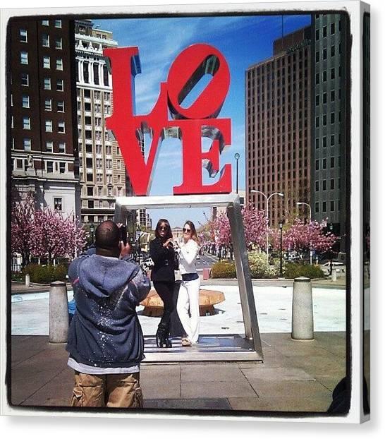 Philadelphia Canvas Print - A Beautiful Day In Philadelphia by Christian Carollo