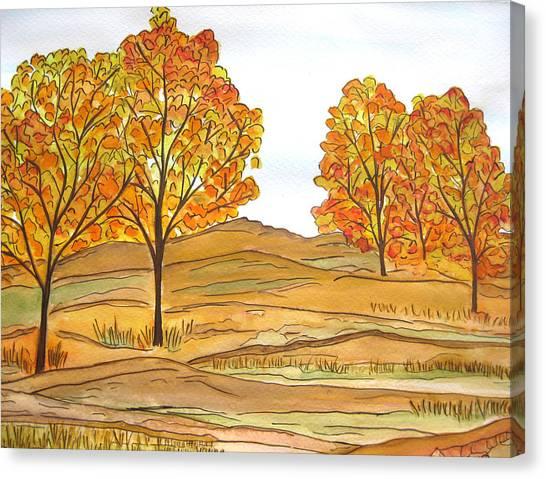 A Bit Of Fall Canvas Print
