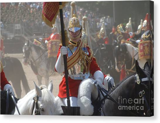 Royal Guard Canvas Print - A British Life Guard Of The Household by Andrew Chittock