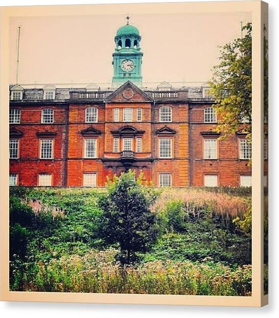 Orange Tree Canvas Print - A Building In Shrewsbury by Alexandra Cook