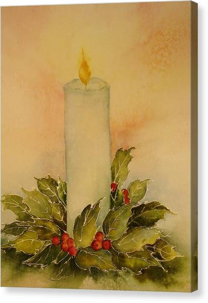 A Candle For Peace Canvas Print