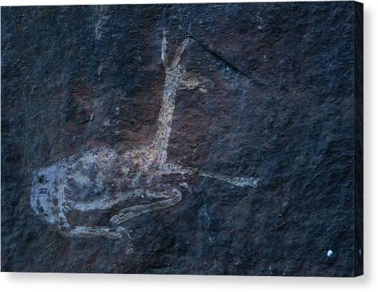 Republic Of South Africa Canvas Print - A Cave Painting Of A Rhebok by Kenneth Garrett