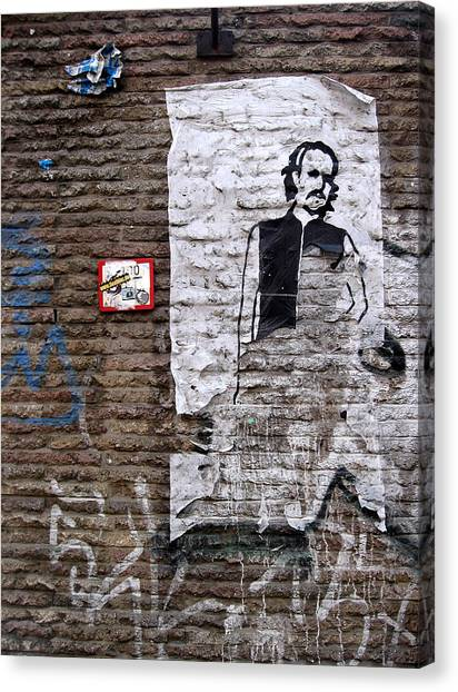 Graffiti Walls Canvas Print - A Character On The Wall by RicardMN Photography