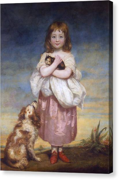Cocker Spaniels Canvas Print - A Child by James Northcore