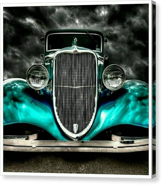 Ford Canvas Print - A Classic Beauty. #classiccar #car by Mary Carter
