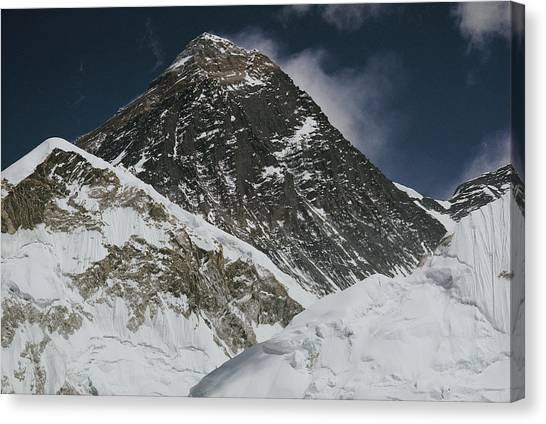 Mount Everest Canvas Print - A Close Up Shot Of Mount Everest by Barry Bishop