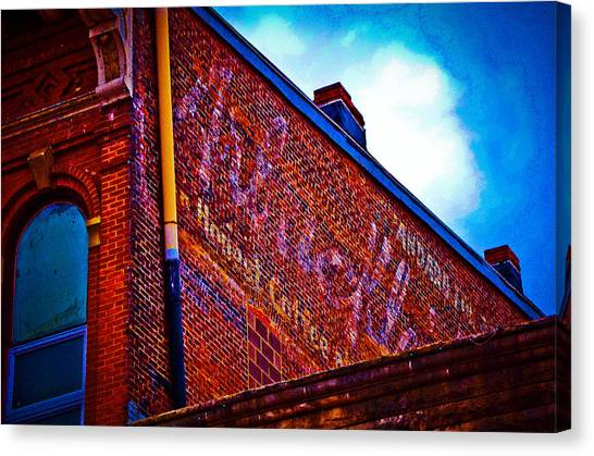 Ohio University Canvas Print - A Colorful Past by Shirley Tinkham