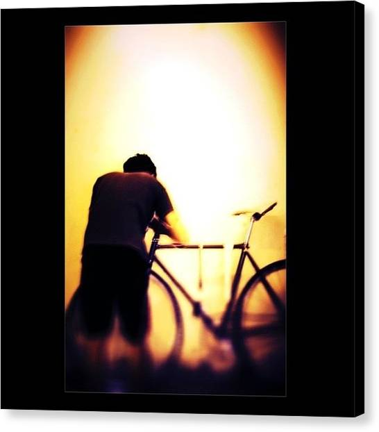 Biker Canvas Print - A Devoted Biker by The Art.box