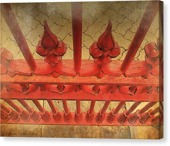 A Different Perspective On An Iron Fence Canvas Print
