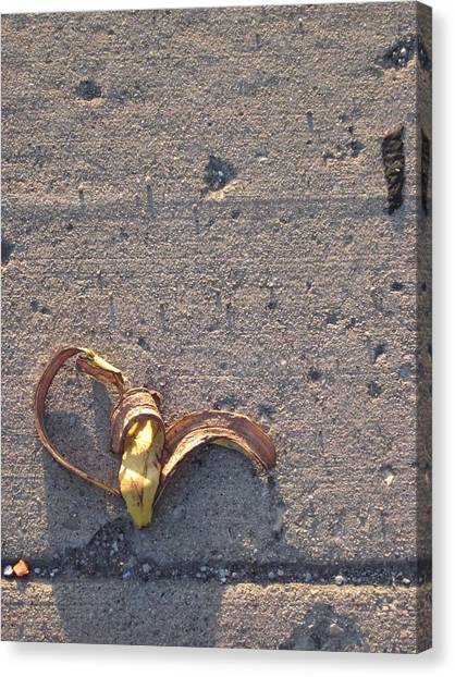 A Discarded Banana Is A Joy Forever Canvas Print by Guy Ricketts