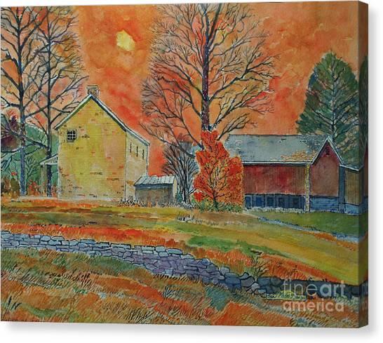 A Dover Pennsylvania Farm Canvas Print by Donald McGibbon
