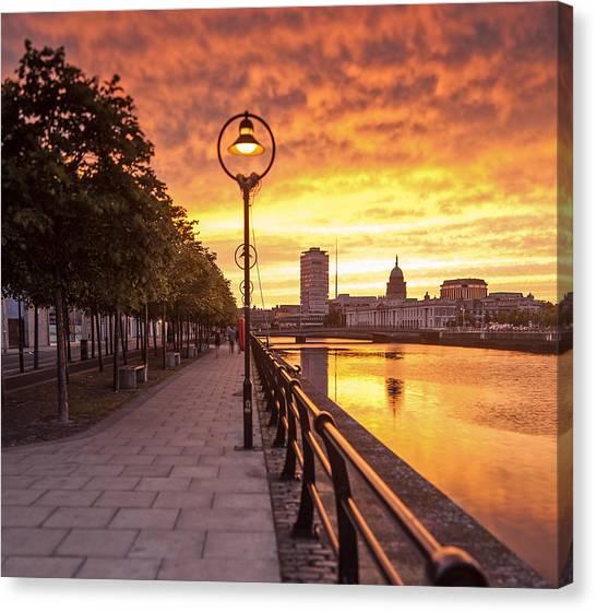 A Dublin Sunset Canvas Print by Brendan O Neill