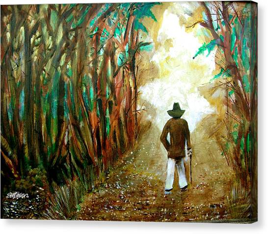 A Fall Walk In The Woods Canvas Print