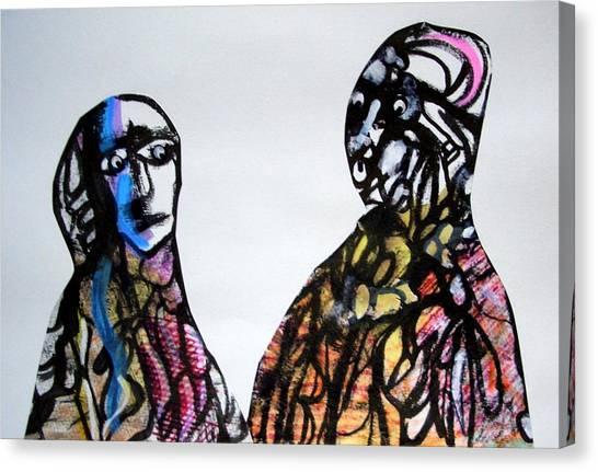 A False Claim Canvas Print by Aquira Kusume