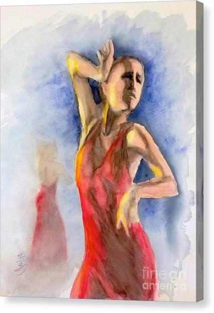 A Flamenco Dancer  2 Canvas Print