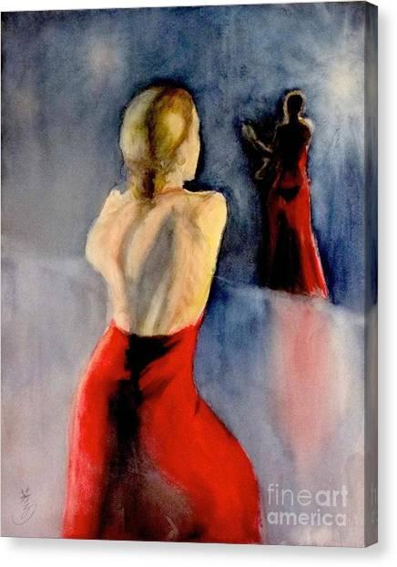 A Flamenco Dancer  3 Canvas Print