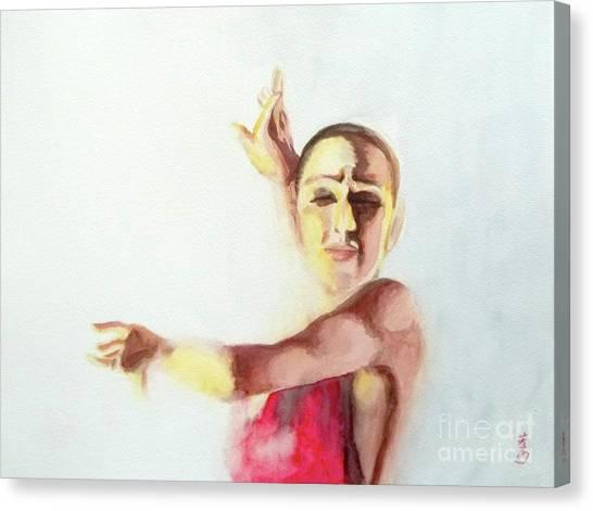 A Flamenco Dancer Canvas Print