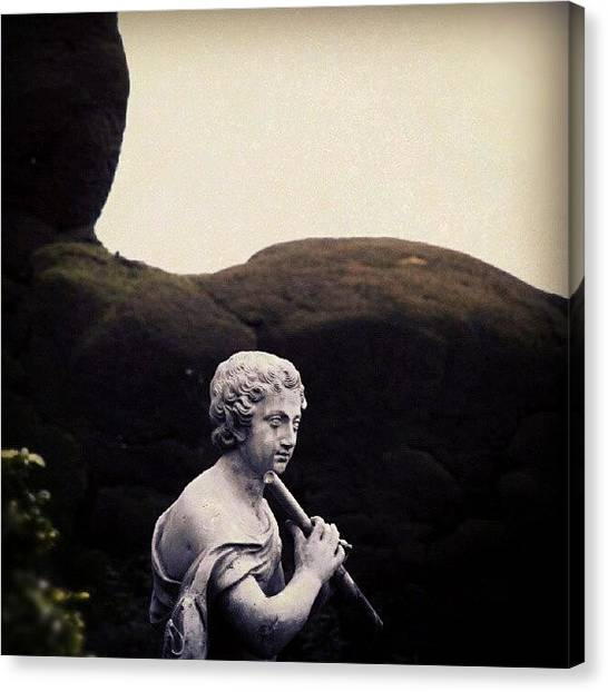 Flutes Canvas Print - A #flute - #playing #sculpture From by Alexandra Cook