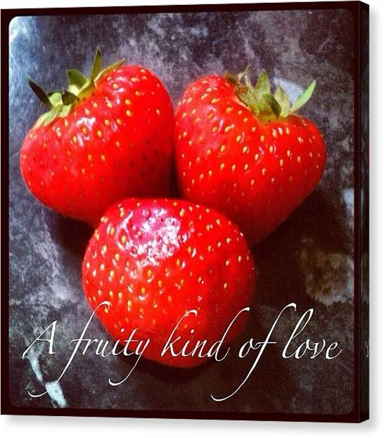Strawberries Canvas Print - A Fruity Kind Of Love by Just Berns