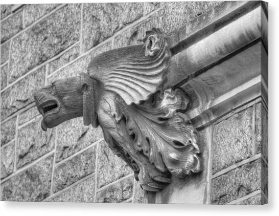 A Gargoyle Profile Canvas Print