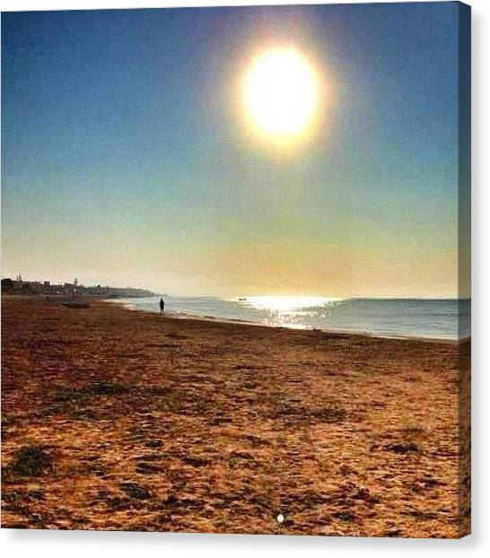 Beach Sunrises Canvas Print - A Gift From Friends In #sicilia by Marco Pesare