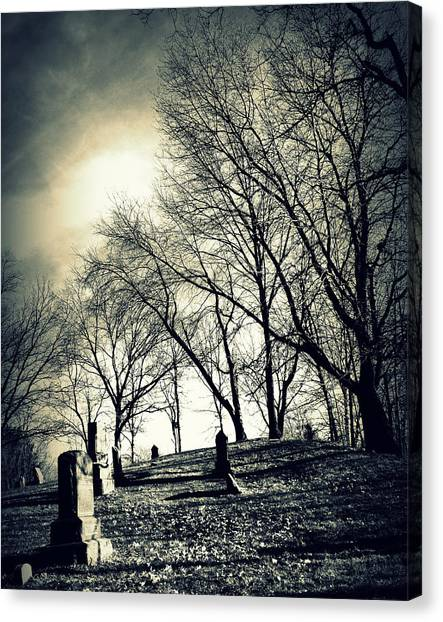A Grave Situation Canvas Print