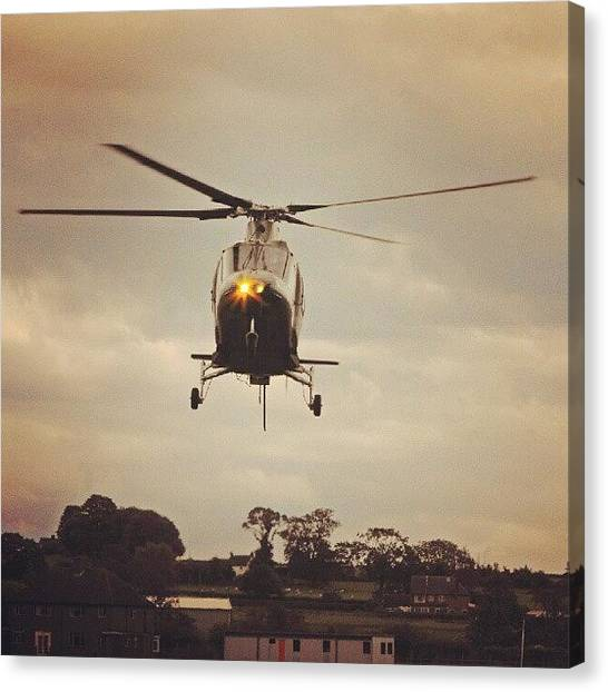Machine Canvas Print - A #helicopter From This Year's by Alexandra Cook