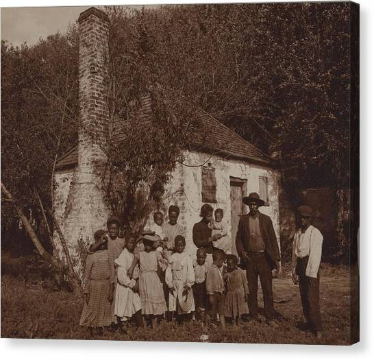 State Hermitage Canvas Print - A Large African Americans Family Posed by Everett