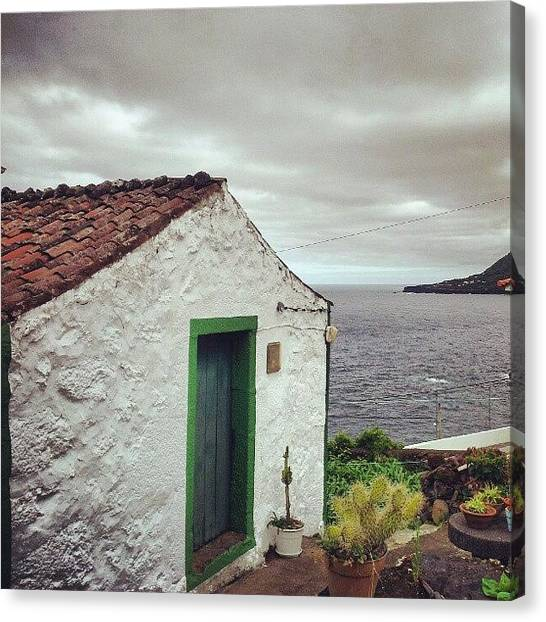 Europa Canvas Print - A Little Old House. #saojorgeisland by Jorge Silveira Sousa