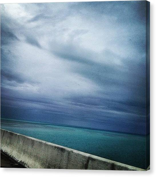 Driving Canvas Print - A Lot Darker Than It Really Was. Lo-fi by Emily W