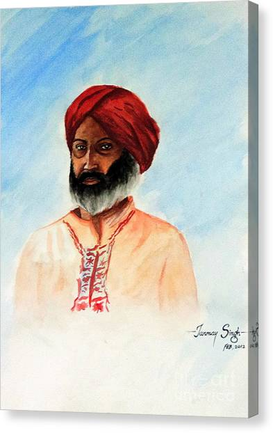 A Man From Rajsthan Canvas Print by Tanmay Singh