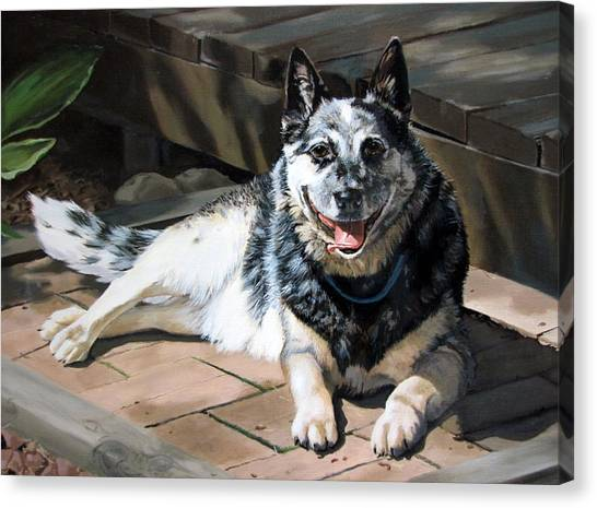 Canvas Print - A Man's Best Friend by Sandra Chase