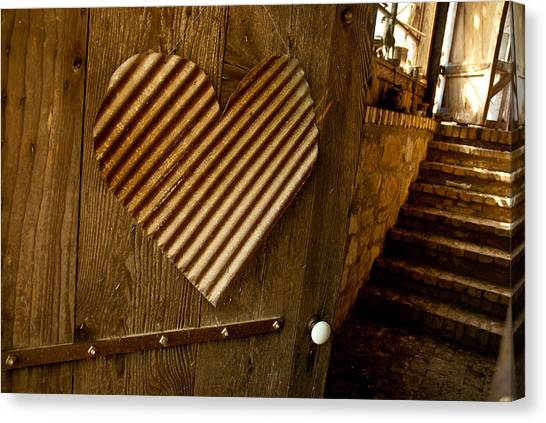 A  Man's Heart Canvas Print