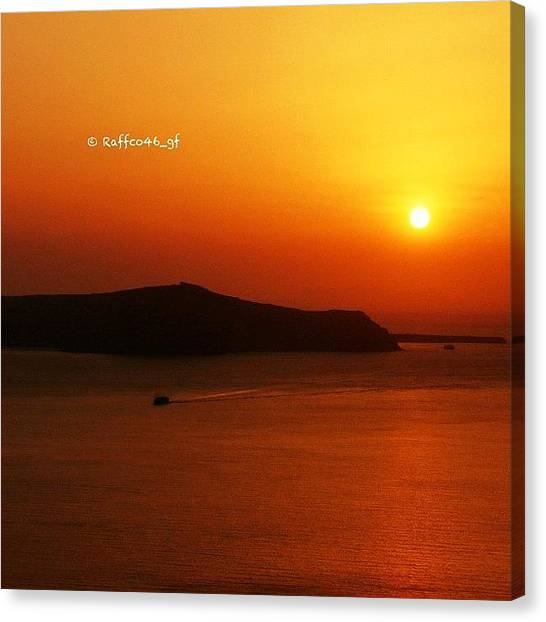 Greece Canvas Print - A Mediterranean Sunset. #gang_family by Raffaele Salera