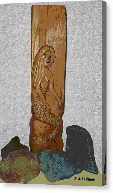 A Mermaid Of Pine Canvas Print