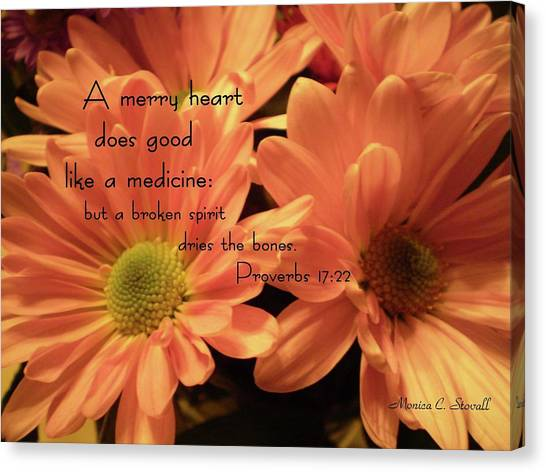 A Merry Heart Does Good Like A Medicine... Canvas Print