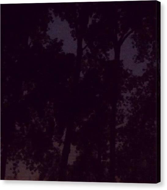 Lightning Canvas Print - A Mid Nights Storm by Angela Nash