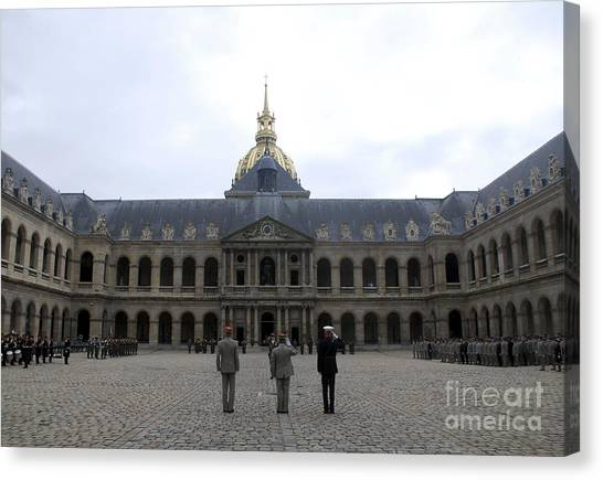 Les Invalides Canvas Print - A Military Awards Ceremony by Stocktrek Images