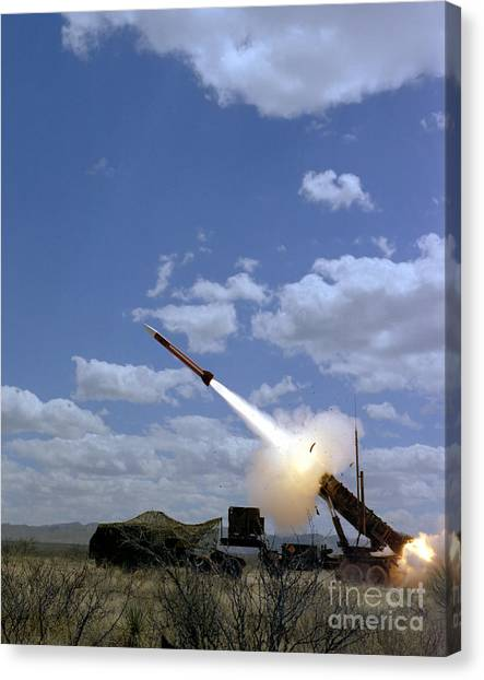 Warheads Canvas Print - A Mim-104 Patriot Anti-aircraft Missile by Stocktrek Images