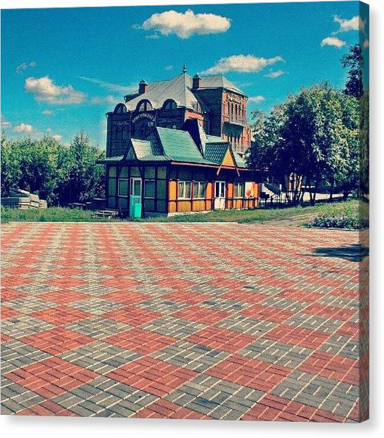 Russian Canvas Print - A #modern #building From The Recent by Alexandra Cook