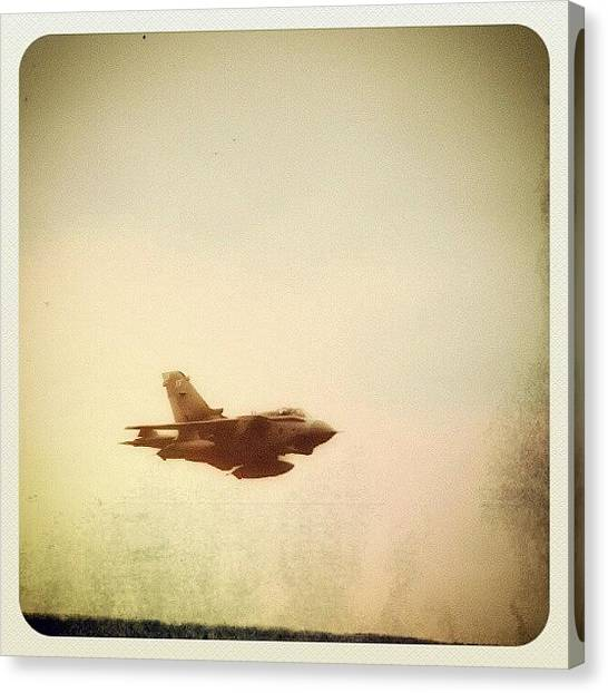 Tornadoes Canvas Print - A #noisy #tornado #aircraft From This by Alexandra Cook